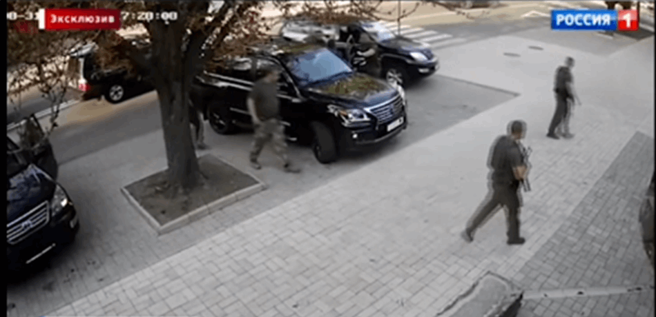 "Résultat de recherche d'images pour ""فيديو يرصد لحظة اغتيال محكمة لزعيم الانفصاليين في أوكرانيا"""