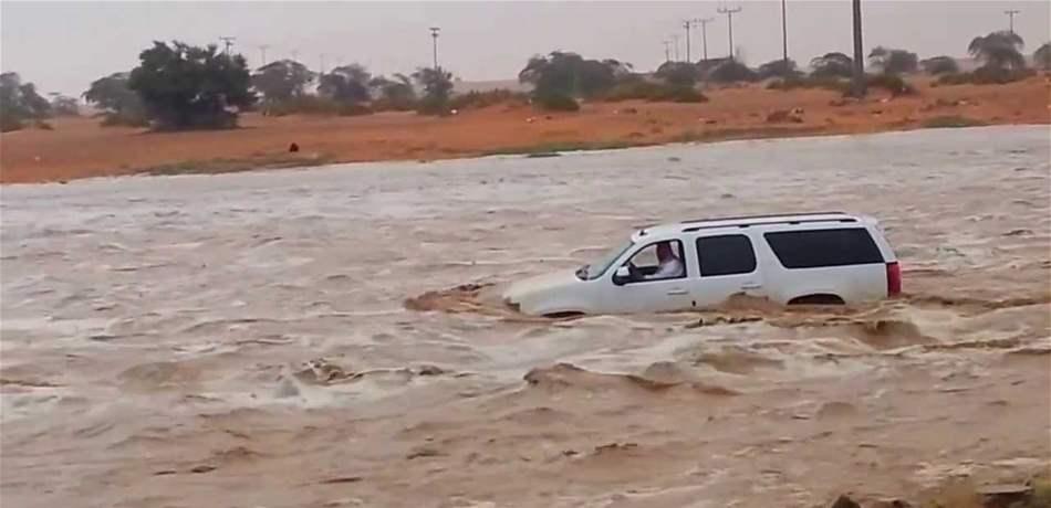 كوارث بسبب السيول في السعودية ضحايا وإخلاء 137 شخصا