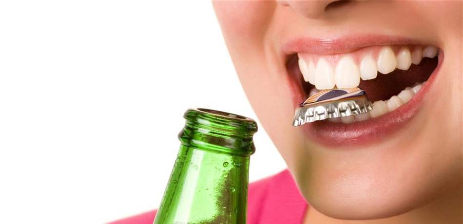 Image result for Dangers of opening bottles with teeth