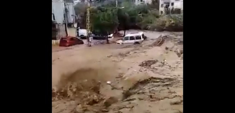 الأمطار تفضح بنى لبنان التحية شاهدوا الفيضانات والسيول في هذا اليوم فيديو
