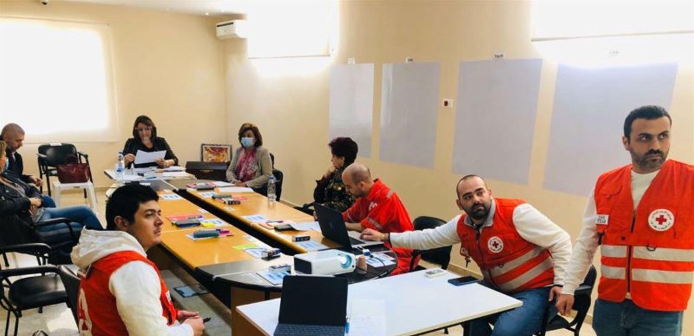 اجتماع تنسيقي في مركز صليب أحمر جبيل
