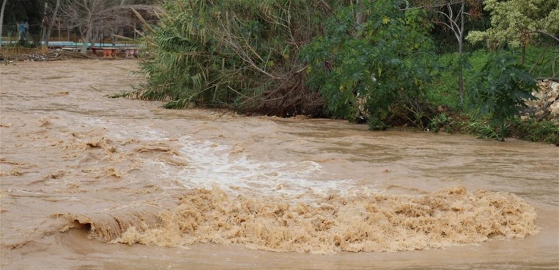 إرتفاع منسوب نهر الليطاني وكمية المتساقطات بسبب الأمطار الغزيرة