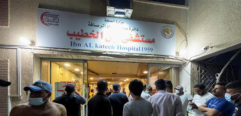 فاجعة في بغداد خلفت قتلى وجرحى.. شاهدوا لحظة انفجار أسطوانات الأوكسجين بمستشفى ابن الخطيب (فيديو)