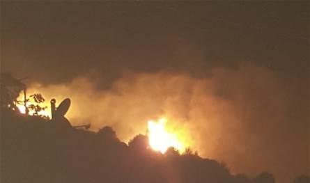 حريق كبير في محمية بنتاعل جبيل (صورة وفيديو)